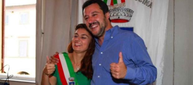 Susanna Ceccardi con Matteo Salvini