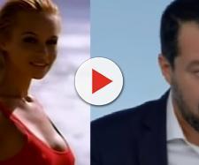 Pamela Anderson - Salvini, botta e risposta: 'La preferivo in costume'