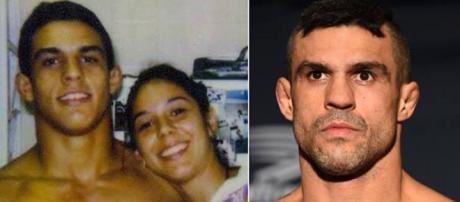 Vitor Belfort com a irmã Priscila Belfort (Foto Reprodução).