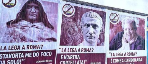 Roma: Nerone e Sora Lella dicono no alla Lega. Salvini attacca Pamela Anderson