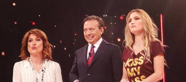 Da sinistra Vladimir Luxuria, Piero Chiambretti e Alessandra Cantini