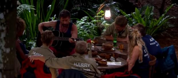 Nick serendaes Campmates at The Jungle Arms (Image credit: I'm A Celebrity...Get Me Out Of Here!/ITV YouTube.com)