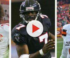 Kaepernick, Vick, and Manziel are former NFL stars who could end up in the XFL, according to the odds. - [TPS / YouTube screencap]