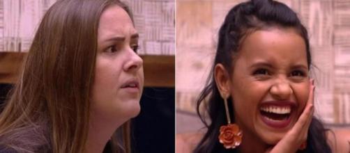 As ex-sisters Patrícia e Gleici no BBB 2018 (Foto/Reprodução)