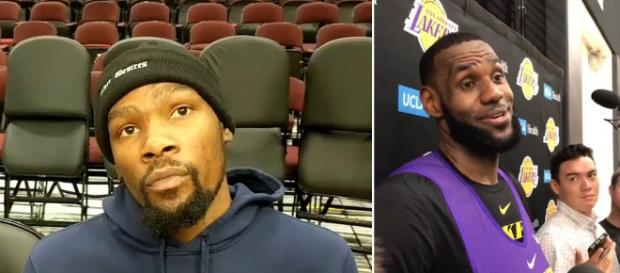 Kevin Durant commented on why other players won't want to play on the Lakers with LeBron. - [Sports and News / YouTube screencap]