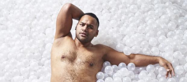 Rugby player Billy Vunipola poses in his Budgy Smugglers. Image credit: Budgy Smuggler UK