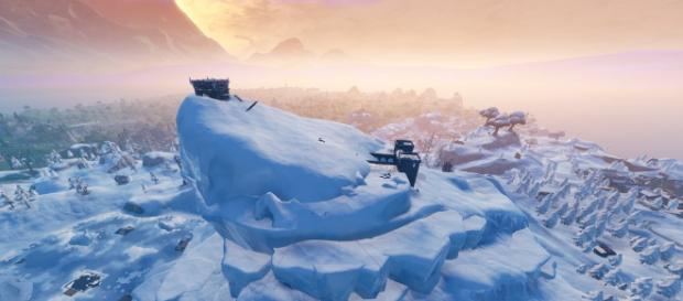 The iceberg has a hidden village underneath it. - [Epic Games / Fortnite screencap]