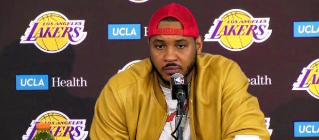 The Lakers may take a chance at Carmelo Anthony if LeBron James asks for the move. - [SportHub / YouTube screencap]