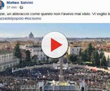Lega in piazza, Salvini: 'La pacchia è finita' (VIDEO)