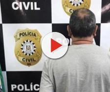 O homem foi preso pela polícia. (Reprodução)