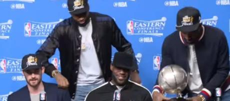 LeBron James interview. - [NESN / YouTube screencap]