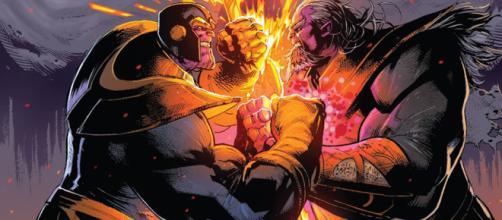 Arte de capa de Thanos #18. (Artista: Geoff Shaw)