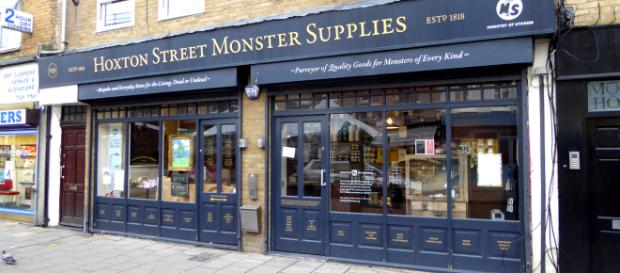 Hoxton Street Monster Supplies is where any self-respecting monster can get what they are looking for. [Image duncan c/Flickr]