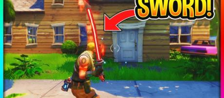 A Sword in 'Fortnite.' - [Best Trends / YouTube screencap]