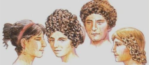 Peinados de la mujer romana. Diferentes modas en pelo recogido