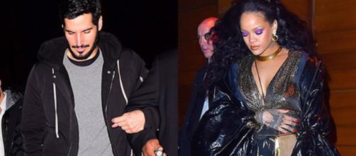 Rihanna saiu do Grammy com o namorado Hassan