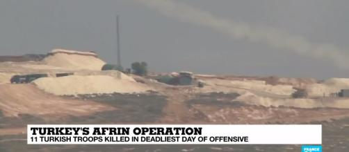 Turkish army bogged down in Syria. Photo-Image credit France 24-Youtube.com