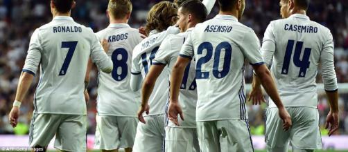 Varios de los jugadores del Real Madrid.