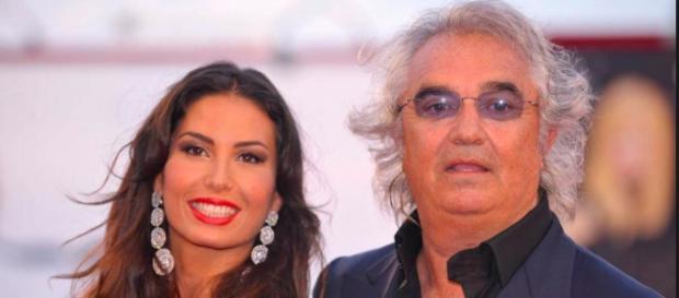 Elisabetta Gregoraci e l'ex marito Flavio Briatore