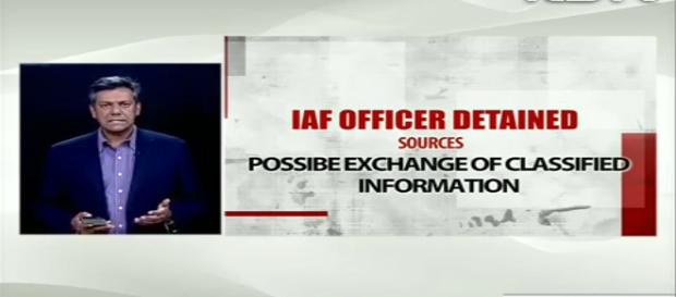 IAF Group Captain detained. Photo ( Image credit youtube.com NDTV News)
