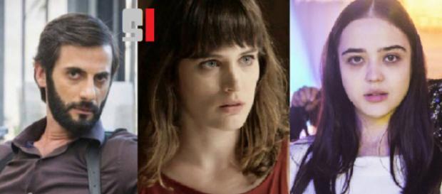 Vinícius, Clara e Laura em 'O Outro LAdo do Paraíso'