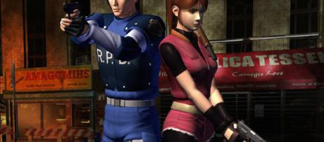Leon Kennedy and Claire Redfield. Image via bagogames on flickr