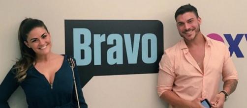 Brittany Cartwright and Jax Taylor visit Bravo. - [Photo via Instagram]