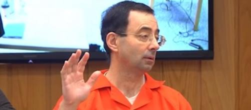 Larry Nassar speaks during his sentencing -Image credit - MLive | YouTube