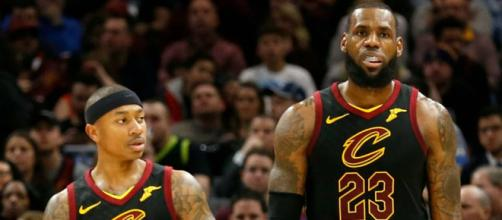 LeBron James wishes Isaiah Thomas well - (Image Credit: Cavaliers/YouTube)
