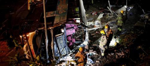 Fatal accidente de un autobús de dos pisos