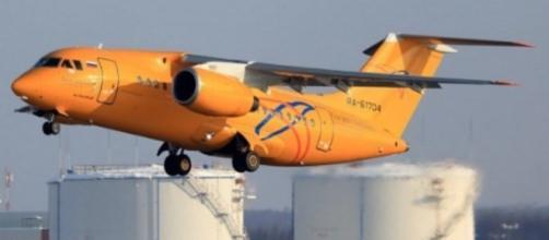 Imagem do modelo do avião que caiu na Rússia