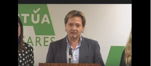 Jorge Campos en la presentación de Actúa Baleares