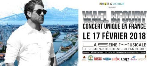 Le concert unique donné par Wael Kfoury le samedi 17 février à la Seine Musicale.