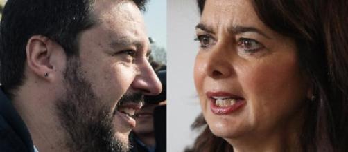 Salvini contro Boldrini in Tv su La7