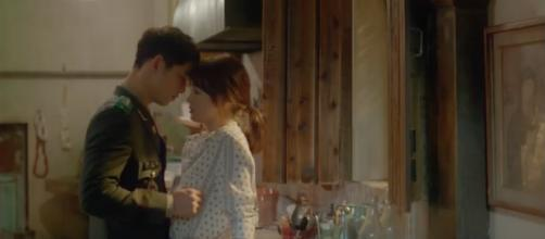 "Song Joong-Ki and Song Hye-Kyo in ""Descendants of the Sun"" [Image Credit: DramaFever/YouTube]"