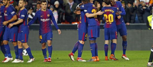 Los jugadores del FC Barcelona celebran el pase a la final de Copa del Rey | Foto: FC Barcelona