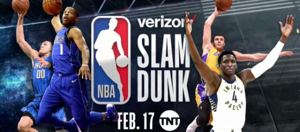 It's time again for the Verizon Slam Dunk contest. [image source: YouTube screen-cap/NBA on TNT]