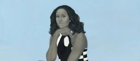El retrato de Michelle Obama se expone en galería la presidencial de la National Portrait Gallery