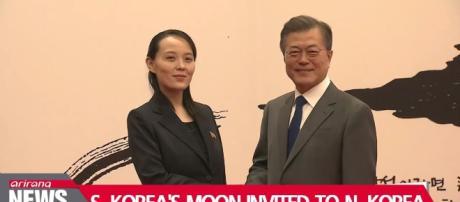 Moon invited to North Korea by Kim Photo-Image credit Arirana News -Youtube.com