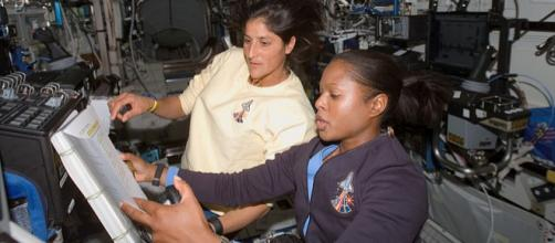 Astronauts at work in the International Space Station (Image credit - NASA, Wikimedia Commons)