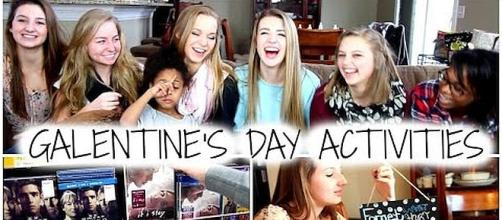 Celebrate Galentine's Day Activities on February 13 [Image: Sarah Burgett/YouTube screenshot]