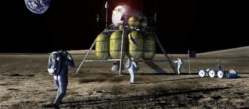 Future astronauts on the moon [imaged courtesy NASA]