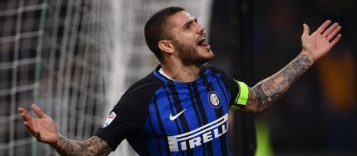 Il bomber dell'Inter, Icardi, pensa al futuro