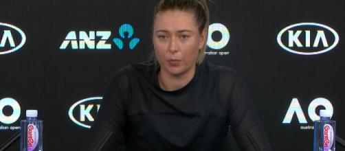 Maria Sharapova during a press conference in Melbourne/Photo: screenshot via Australian Open TV channel on YouTube