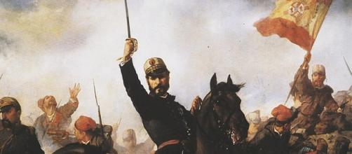 Pintura de Prim en la campaña militar de Marruecos