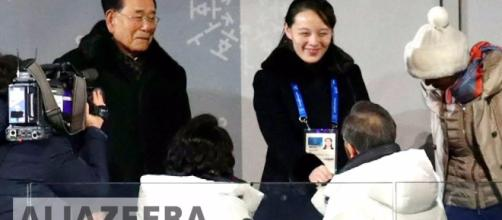 Sister of Kim carried the invitation. (Image Credit: al Jazeera Youtube screencap)