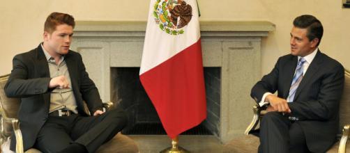 Will Canelo Alvarez defeat Gennady Golovkin in their rematch? / Photo via Presidencia de la República Mexicana, Flickr CC