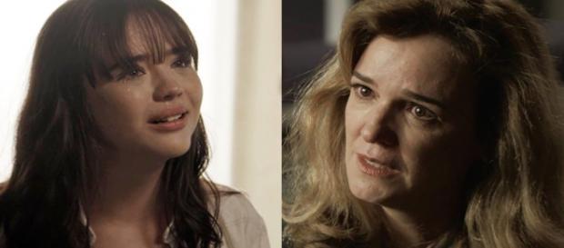 Laura se revolta com Lorena. (Foto: Divulgação TV Globo)