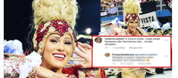 Lívia não deixou barato as críticas (Reprodução/Instagram)