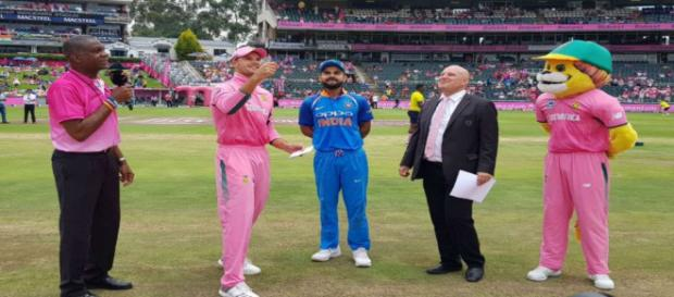 Toss at the India vs South Africa 4th ODI (Image Cr: Sony Six screencap)